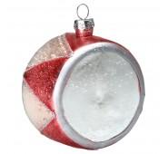 Kalėdinis žaisliukas Drum pale pink