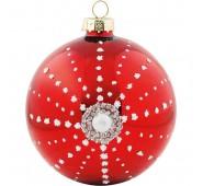 Kalėdinis žaisliukas Snowflake red