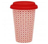 Kelioninis puodelis Bianca red