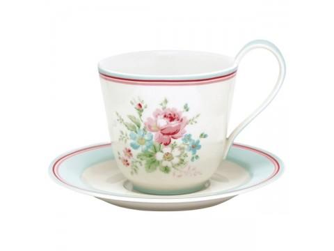 Kavos puodelis su lėkštute Marie white