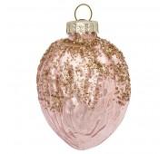Kalėdinis žaisliukas Acorn nude with gold