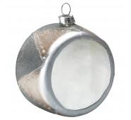 Kalėdinis žaisliukas Drum silver