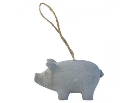 Dekoracija Pig grey