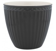 Latte puodelis Alice dark grey