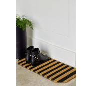 Durų kilimėlis Black with stripe  33 x 70 cm