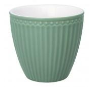 Latte puodelis Alice dusty green