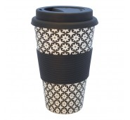 Kelioninis bambukinis puodelis Lara black