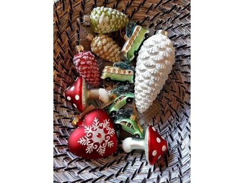 Kalėdiniai žaisliukai Kankorėžių rinkinys