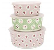 Bambukinių dėžučių rinkinys Strawberry pale pink