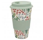Kelioninis bambukinis puodelis Megan white