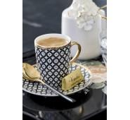 Espresso puodelis su lėkštute Lara gold